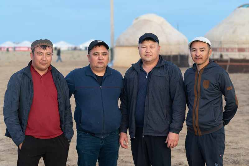 Kazakh men portrait