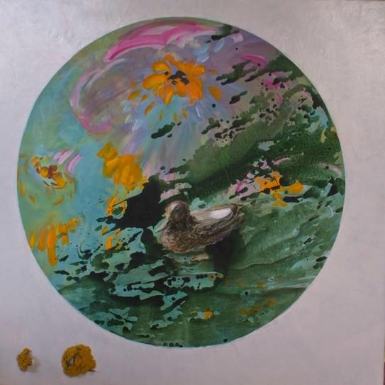 Occulus - www.fabiennecolin.com Acrylique sur toile 130X130.
