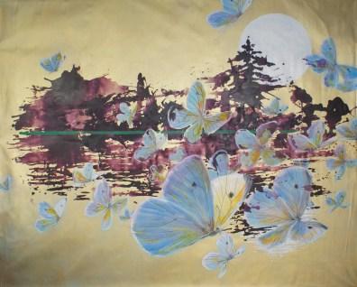 Avec Vue - www.fabiennecolin.com Acrylique sur toile 250X200.