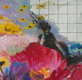 Sur Jardin1 - www.fabiennecolin.com Acrylique sur toile 130X130.