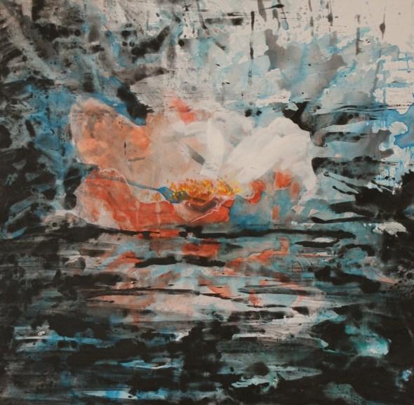 En eaux troubles - www.fabiennecolin.com Acrylique sur toile 100X100