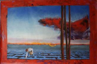 La Glaneuse - www.fabiennecolin.com Acrylique sur toile 200X300