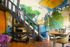 Jungle des Champs. Peinture murale. Fabienne Colin