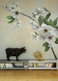 Décor floral. Acrylique sur toile 250X250.