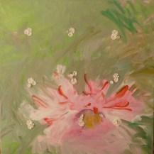 Une si jolie petite fleur - www.fabiennecolin.com Acrylique sur toile 100X100.