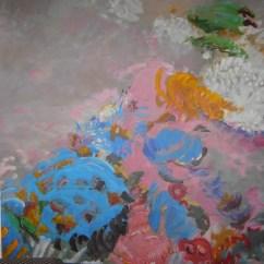 Lotus Bleu - www.fabiennecolin.com Acrylique sur toile 200X200