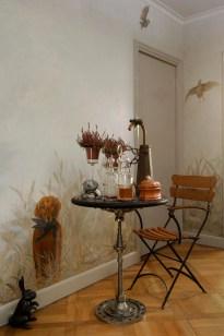 Décor peint pour les murs d'une entrée.