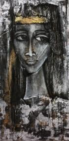 """""""Sara la noire"""" sur toile 30 X60 cm"""