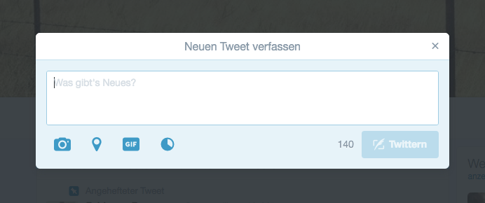 Neuer Tweet