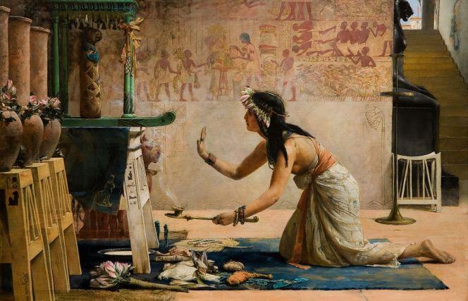 https://commons.wikimedia.org/wiki/File:John_Reinhard_Weguelin_%E2%80%93_The_Obsequies_of_an_Egyptian_Cat_(1886).jpg