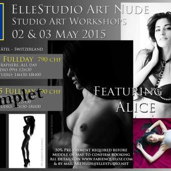 Art Nude workshops ElleStudio ALICE stage nu artistique cours neuchâtel suisse fabien queloz