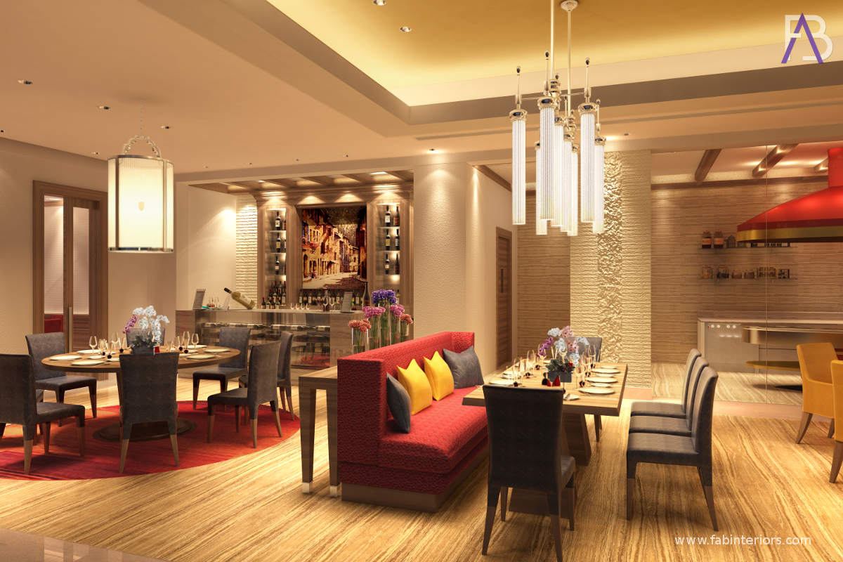 Interior Designers of Le Meridien Gurugram Restaurant
