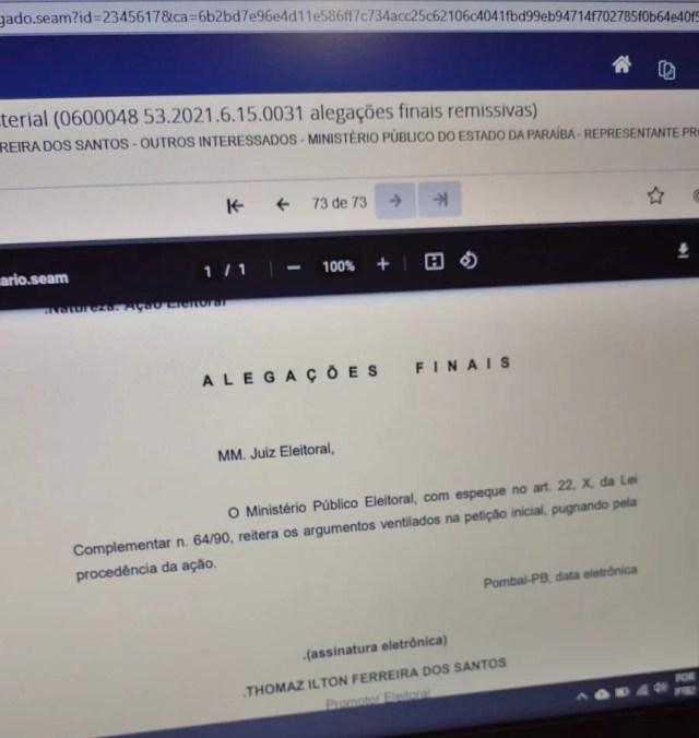 MPE - NO SERTÃO: Ministério Público Eleitoral pede cassação da prefeita e vice de São Domingos; VEJA