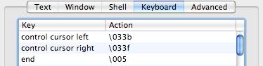 Terminal.app keyboard settings