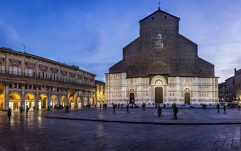 Basílica de San Petronio no centro da cidade. Foto: Vanni Lazzari/Wimedia