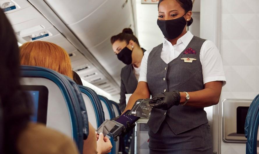 Pagamento sem toque a bordo da Delta