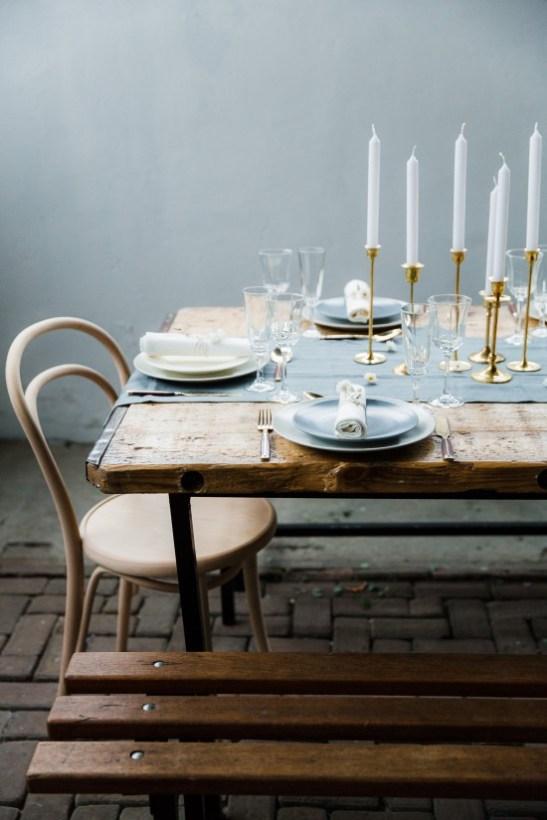 mesa posta, azul pastel, receber com charme