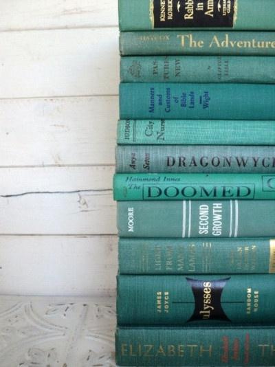 livros, arranjos, azul céu