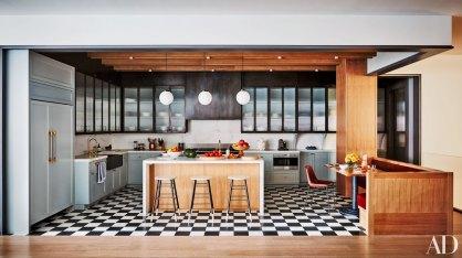 Cozinha, armários de cozinha, preto e branco, decoração