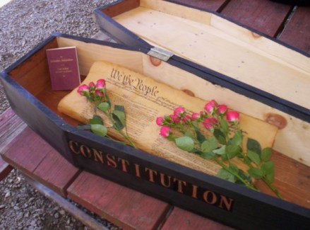 The Constitution in a coffin