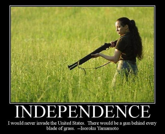 Independence: Another fake gun quote.