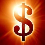 Glowing dollar