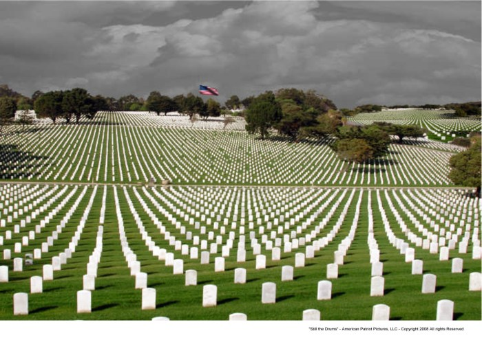 A military cemetery on Memorial Day