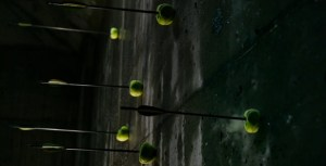 Tennis balls are difficult targets