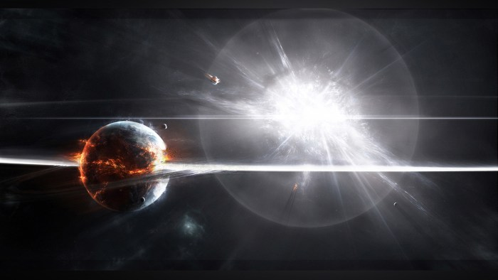 Supernova explosion by Adam Burn at DeviantArt.