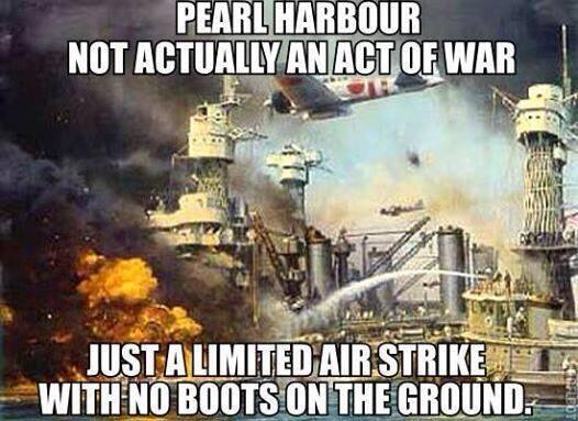 Pearl Harbor was not war