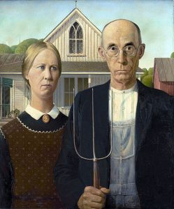 """American Gothic"" by Grant DeVolson Wood"
