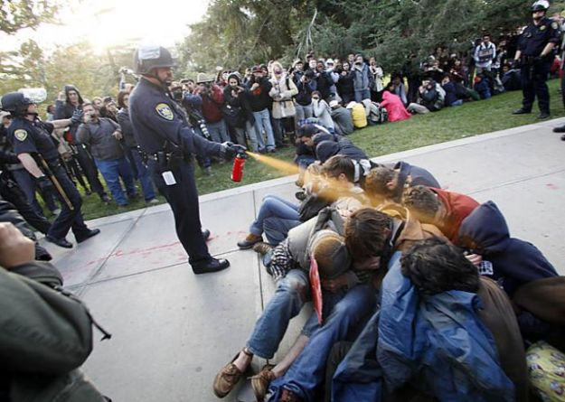 Pepper spray by police