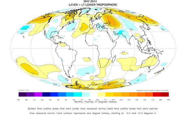 May 2014 Global Temperature Report