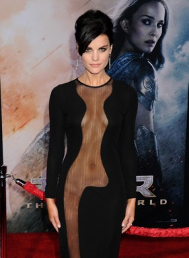 Jaimie Alexander plays Lady Sif