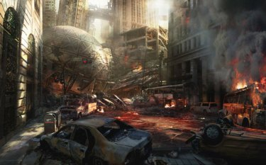 Man Of Steel: Metropolis burning