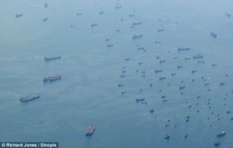 Freighters around Singapore, 9/09