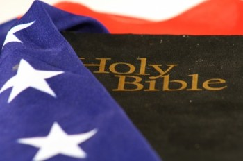 American Flag and the Bible, together