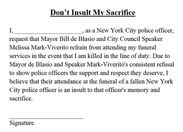 PBA affidavit for NYPD officers
