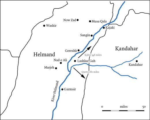 Helmand in Afghanistan