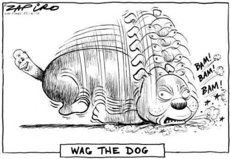 The tail wags the dog