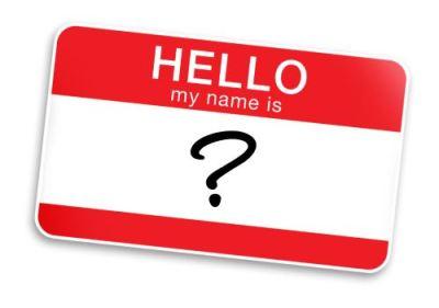 Choosing a name.