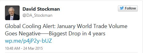 Tweet by Stockman about trade