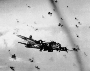 B-17 in heavy flak