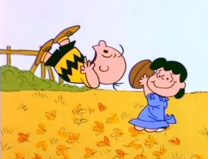 Charlie Brown and Lucy: football madness