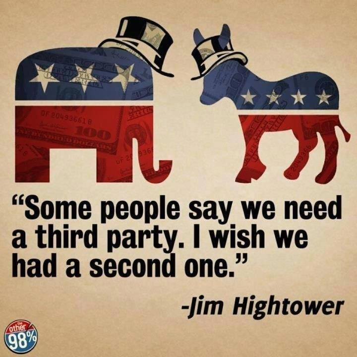 Jim Hightower on the two parties
