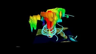 Model of a hurricane.