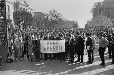 Berkeley 1968: marching for free speech