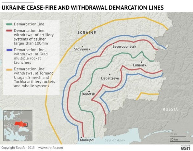 Graphic on the Ukraine ceasefire & withdrawal