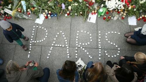 Paris tribute on 14 November 2015 in Berlin, Germany.