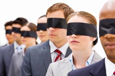 Blindfolded people